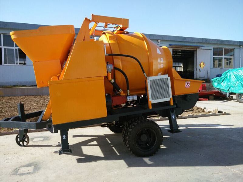 electric concrete pump and mixer