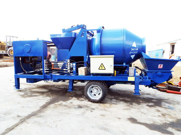 trailer concrete mixer pump